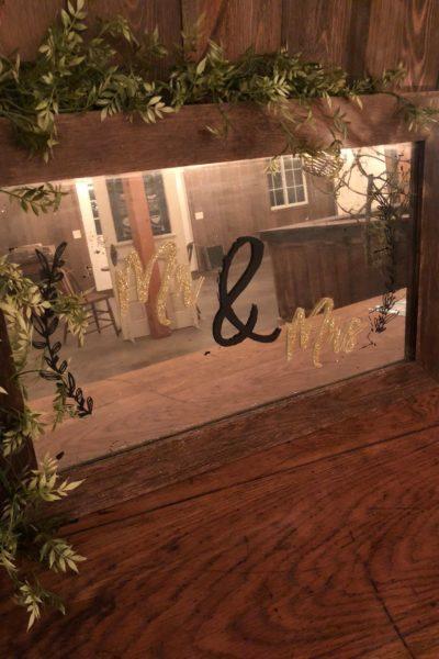 Wedding DIY Mirror Sign